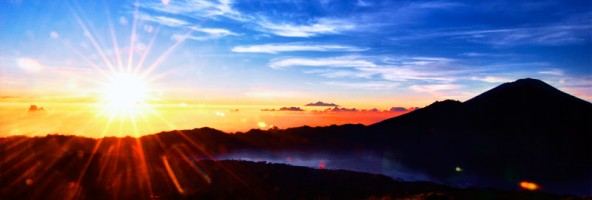 Sunrise gone wild on Mount Batur