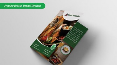 Simple Food Photography for Flyer & Roll-up Banner