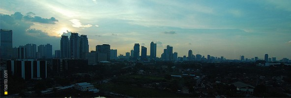 Embracing evening at Kuningan, Jakarta